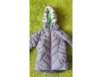 Salomon Snow Down Jacket, Ladies, M. Mint condition. Mauve purple colour, faux fur removable hood.