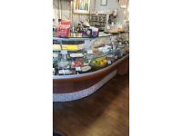 Excellent conditions display counter & coffee machine