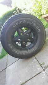 Landrover 16inch alloy wheel and tyre