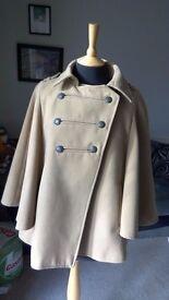 Dorothy Perkins Cape coat 10