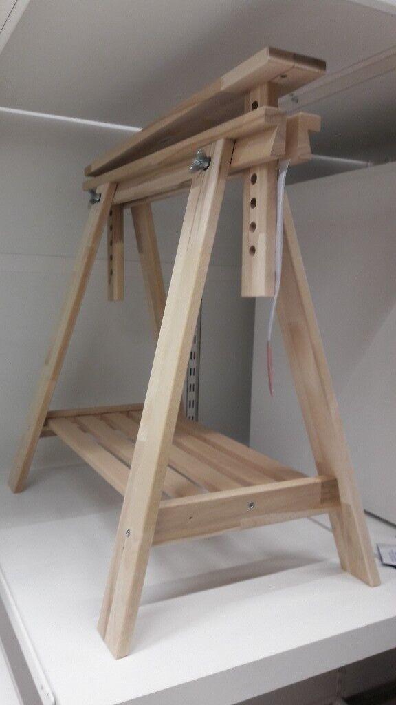 Trestle Beech solid wood height-adjustable