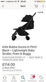 Ickle bubba aurora black pushchair