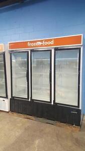 THREE DOOR GLASS FREEZER ( MADE IN U.S.A )
