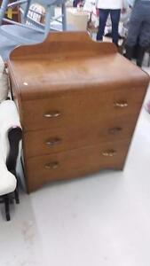Vintage 3 Drawer Dresser for Sale