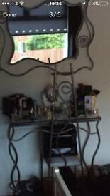 Handmade designer dressing table, chair and mirror