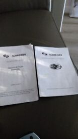 Schneider instructions manuals for combination microwave oven