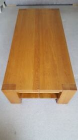 Light Oak- Coffee Table- Excellent condition