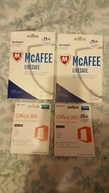 Office 365 / mcafee live safe anitvirus security