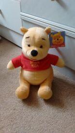 Winnie the Pooh.Fisher price cuddly Toy.