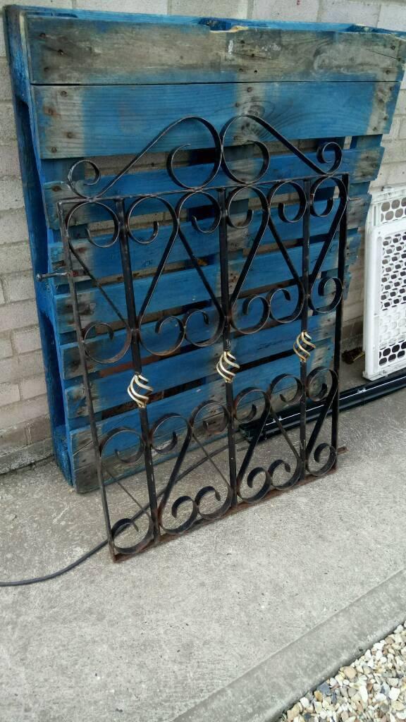 New wrought iron gate