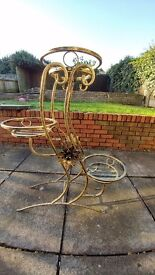 For sale brand new 3 stand flower. Very sturdy and decorative. Can be used indoor and outdoor.