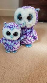 Mama and baby owl cuddly beanies