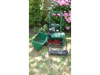 Qualcast Classic Petrol 43S Cylinder Lawn Mower and Scarifier.
