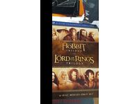 Blu Ray - Lord of the rings + The hobbit trilogys - 6 dvds in box