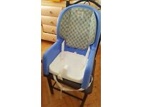 Reclining 3 stage portable feeding seat ideal for newborns to toddlers