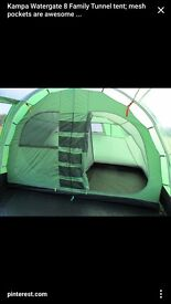 Watergate 8 tent, footprint and porch