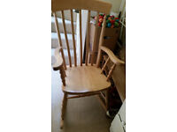 Vintage Solid Wood Rocking Chair. Price Reduced for quick sale.