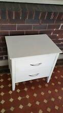 White Timber Bedside tables 2 drawers x 2 Burwood Burwood Area Preview