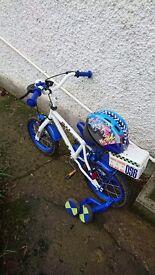 Apollo childrens bike and helmet