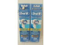 Braun Oral B Precision Clean Replacement Tooth Brush 8 Heads (2 x Packs Of 4)