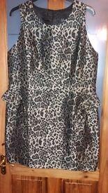 SIZE 20 ASOS PEPLUM DRESS