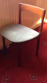 antique Nathan Stagg extendable dining table and 4 chairs circa 1960