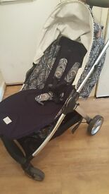 Liberty armadillo stroller, liberty changing bag, mat and bottle warmer and twilight gold footmuff