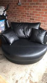 Leather swivel chair Marks and Spencer