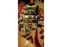 Xbox360 black 250gb+18 games +kinect