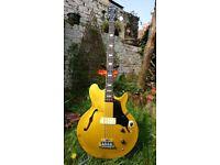 2008 Gibson Epiphone Jack Casady semi hollow bass guitar