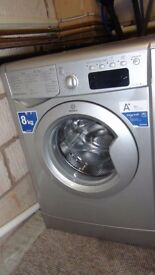Silver Indesit Advance IDE84182S 8KG 1400 spin Washing Machine - Free Delivery 10 miles