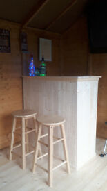 Made to Order Tongue & Groove Wood Bar for Man Cave, Summer House, Den starting from £120