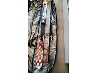 K2 Twin Tip Skis, Scott Poles and Dakine Bag