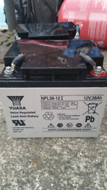 YUASA NPL38-12I Long Life Lead Acid Battery - 12v- 38Ah Used all tested, Only 28 left going quick