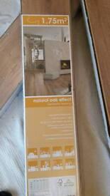Natural oak laminate flooring