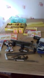 MECCANO Large collection of 2x Crane construction sets inc motors etc.