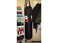 Pro Power Punching Bag 4ft and Hand Wraps
