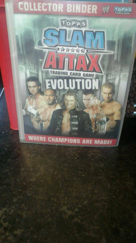 Slam attax binder with over 100 cards in excellent condition