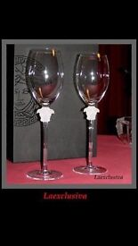 ROSENTHAL BY VERSACE CRYSTAL CHAMPAGE FLUTES AND WINE GLASSES