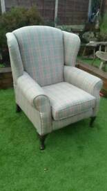Tartan wingback chair jd wiliams next bhs