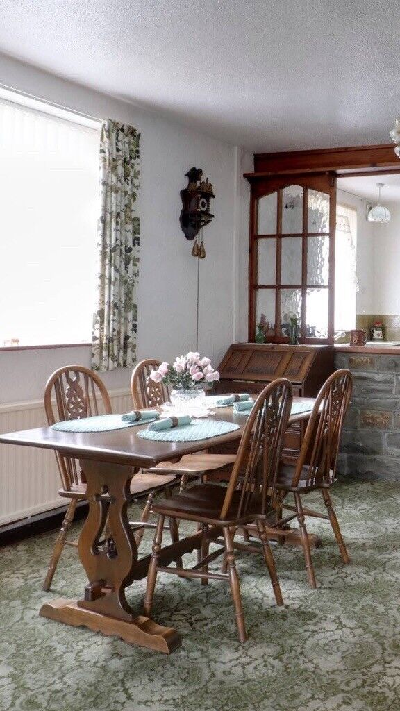 Old charm dining table and 4 chairs | in Hengoed ...