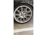 BMW M Sport original alloy wheels 19 inch and tyres