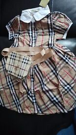 Burberry dress x 1. Age 1 year old