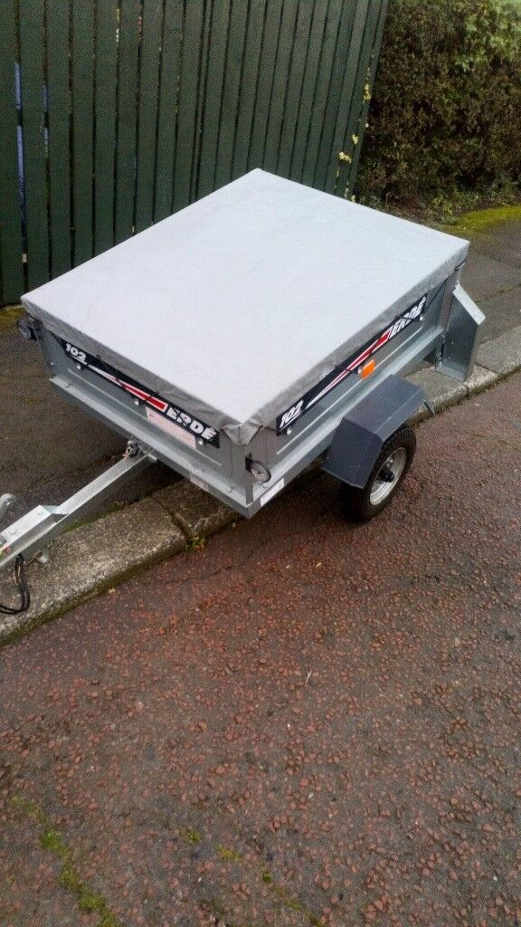 Erde 102 galvanised trailer as new condition