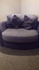 Corner sofa and love chair