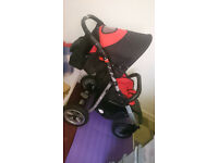Pushchair Buggy Stroller Zebra Prampol + air turning wheels