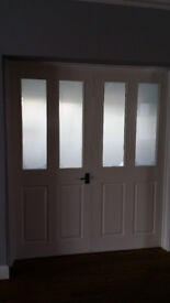 DOORS - Interior Half Glazed Frosted glass