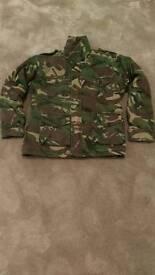 Child's padded camouflage coat