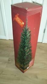 6ft slim green christmas tree
