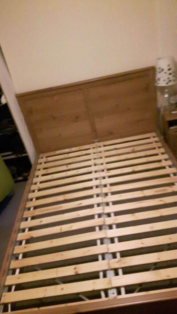 ikea aspelund double bed frame with ikea sultan lade slats ikea aspelund double bed frame